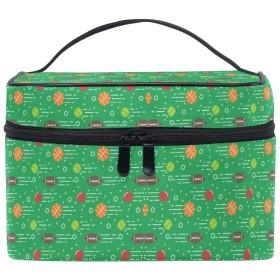 かわいいボールグリーン化粧品袋オーガナイザージッパー化粧バッグポーチトイレタリーケースガールレディース