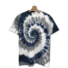 染め 染色 半袖 スパイラル タイダイ染め ポケット付き Tシャツ : TS-630