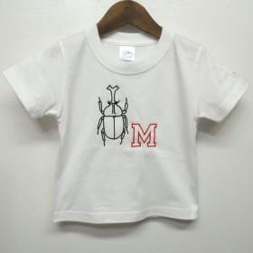カブトムシ イニシャル Tシャツ (90-160cm)