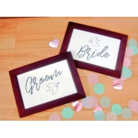 文鳥 受付サイン 結婚式