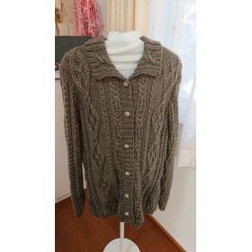 手編みアラン模様のジャケット