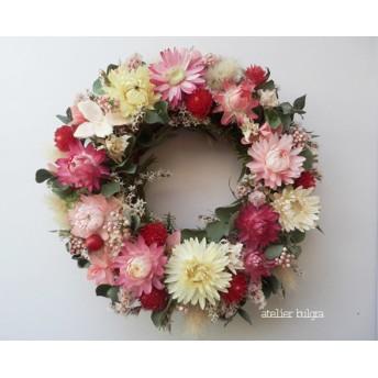 atelier blugra八ヶ岳〜(定形外郵便発送)春色小花のMiniWreath001