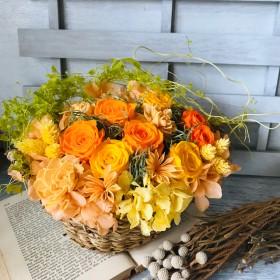 *幸運が訪れるお花畑のようなナチュラルアレンジ!Nadia(ナディア)スペシャル版 ビタミンカラーフラワーギフト