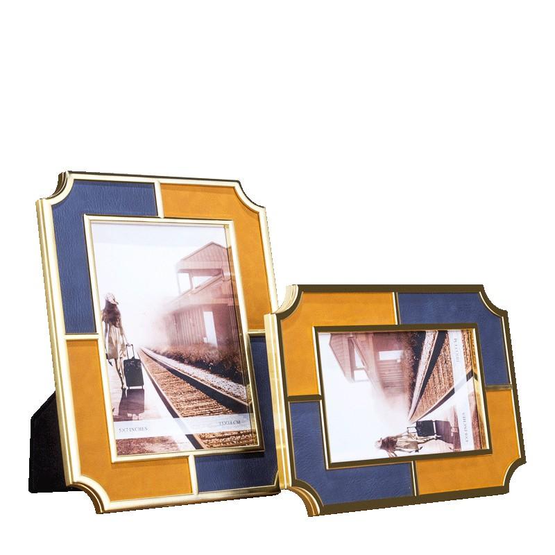 ins北歐鐵藝6寸7寸幾何畫框相框擺臺創意個性家居客廳裝飾擺件