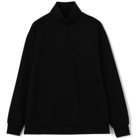 【LEON 11月号掲載】ESTNATION / タートルネックロングスリーブTシャツ ブラック/LARGE(エストネーション)◆メンズ Tシャツ/カットソー
