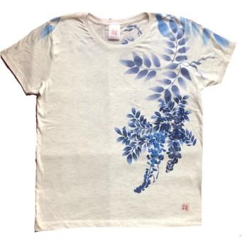 和柄Tシャツ 藤