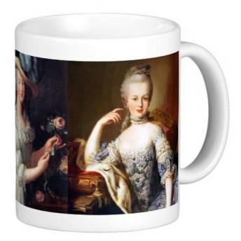マリー・アントワネット、3枚の肖像画のマグカップ 2
