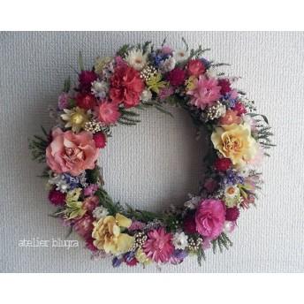 八ヶ岳〜春待ち色小花のWreath Ver.3