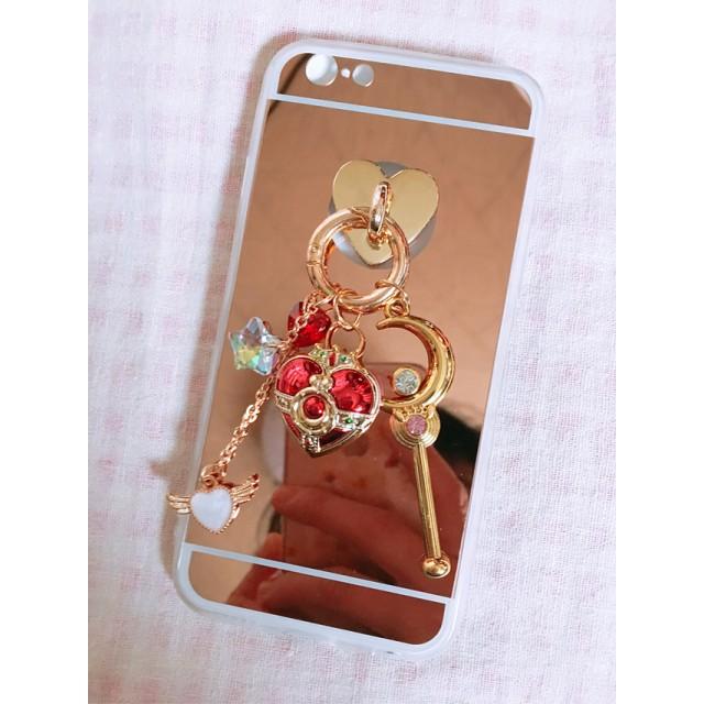 魔法少女モチーフ iPhone 5 5s 6 6s ケース ハンドメイド スマホ リング チャーム