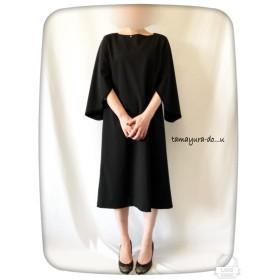 値下げ(6900円→5400円)割袖ワンピ(ブラック)