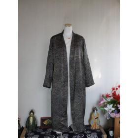 ロングカーディガン 2 絹着物からのリメイク服です