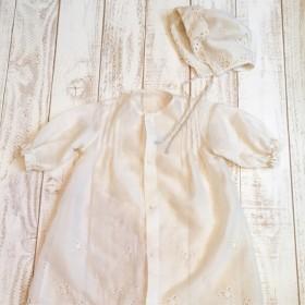 生成り アンティークの様なベビードレス
