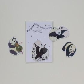 COMO フレークシール・パンダ〈赤ちゃんパンダなど〉
