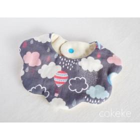 モコモコ Balloons& clouds 。゚ふわっふわ8重ガーゼスタイ♪出産祝い