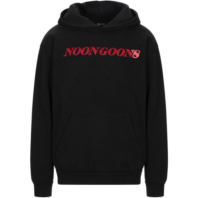 《期間限定セール開催中!》NOON GOONS メンズ スウェットシャツ ブラック XS コットン 100%