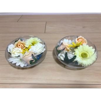 ウェルカムスペース 花飾り 2つ