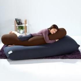 【10%OFF】Yogibo Roll Max(ロールマックス) - チョコレートブラウン ヨギボー ロール マックス 抱き枕 マタニティ ビーズクッション【1~3営業日で出荷予定】【受注生産品】【分納の場合