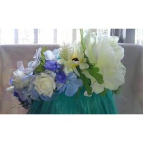 花かんむり 花冠 サムシングブルー ホワイト グリーン