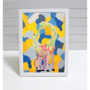 AKiの色彩「キリンのオズ」 (複製 B5サイズ)