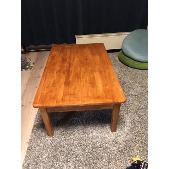 パイン集成材のセンターテーブル