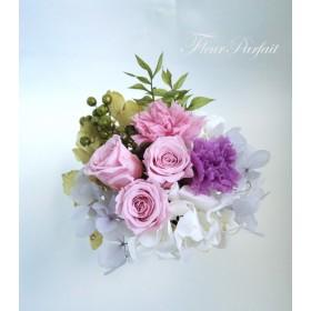 仏花 プリザーブドフラワーのお供え花《パープルローズ》【受注製作】