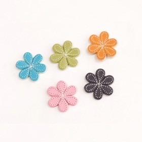 ドロシー花レザーデコパーツ2個セット
