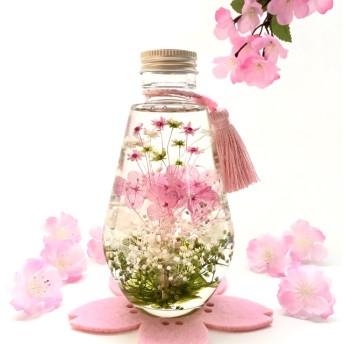 『 可愛い小花の ハーバリウム』ティアドロップ型 Lサイズ ひな祭り お祝い ギフト