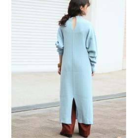 CITYSHOP 《予約》RIB KNIT DRESS ワンピース サックスブルー フリー