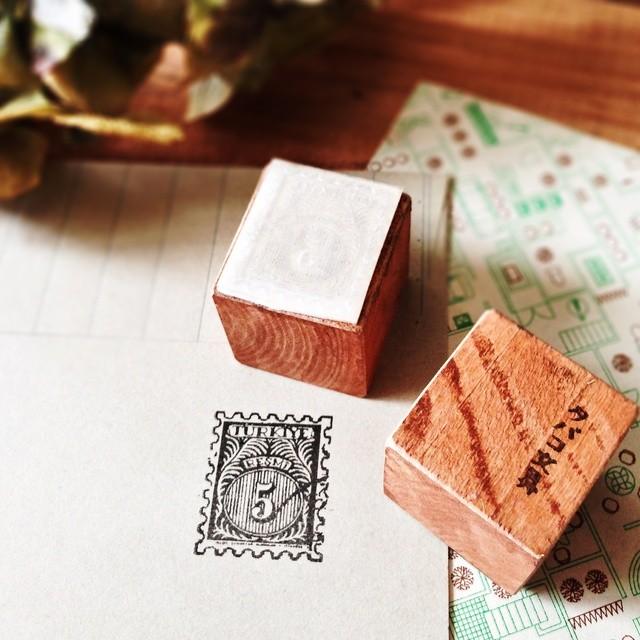 古い外国切手はんこD