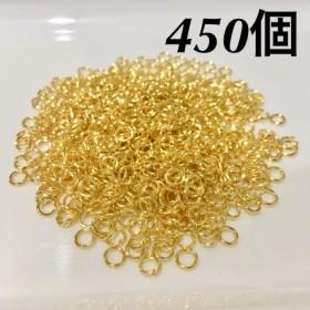 送料無料 丸カン 4mm ゴールド