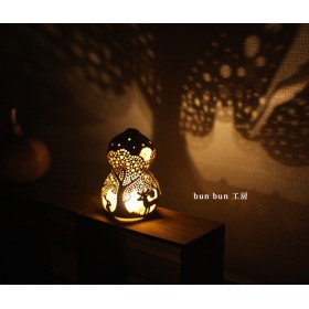 ひょうたんランプ-Sサイズ 深夜の森