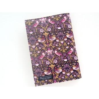 リバティ ビジネス書 ブックカバー ストロベリーシーフ 黒紫