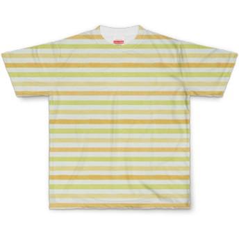 ビンテージ ストライプ Tシャツ【ライム&オレンジ】