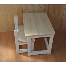 こどもベンチとこどもテーブルのセット ホワイト