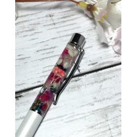 ハーバリウム ボールペン 赤と白