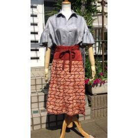 感謝特価 ️矢羽柄 ️シルク巻きスカート