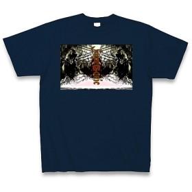 SUPER SONIC◆アート文字◆ロゴ◆ヘビーウェイト◆半袖◆Tシャツ◆ネイビー◆各サイズ選択可