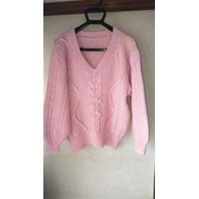送料無料 手編みセーター