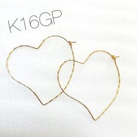 K16GP ハートフープピアス