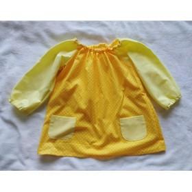 キッズスモック 100cm 黄色