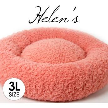 【受注制作】おしゃれペットベッド プードルファー ローズピンク色 3Lサイズ