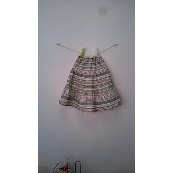 サイズ100 東欧鳥さんのギャザースカート