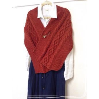 手編みのマフラー(ストール)☆B級品