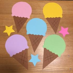 壁面飾り【アイスクリームセット】保育園 幼稚園