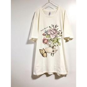 ハナメムシ ビッグTシャツ ミルクホワイト