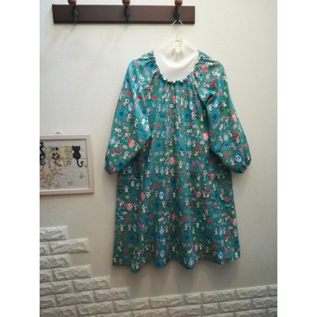とってもゆったりラグラン袖スモックドレス