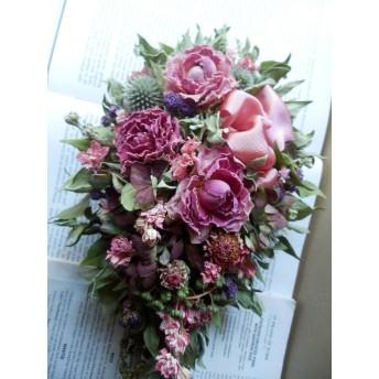 八ヶ岳〜薔薇とミントのクラシカルキャスケードスワッグ