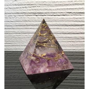 潜在脳力を引き出す力!ピラミッド型オルゴナイト アメトリン