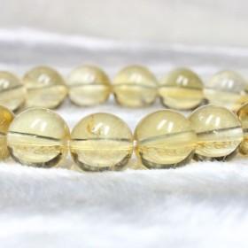 11月の誕生石!天然シトリン10ミリ数珠ブレスレット!現品一点物♪幸運のパワーストーン