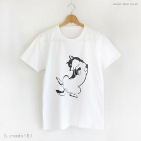 ブラック【L】秋冬コーデもヘソ天☆彡柴犬豆柴お腹なでテーシャツ